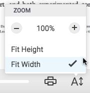 Changing Font Size in Bookshelf Online – Bookshelf Support